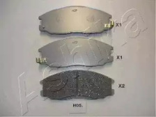 50H0005 ASHIKA Тормозные колодки HYUNDAI H-1 H-200 2.5C