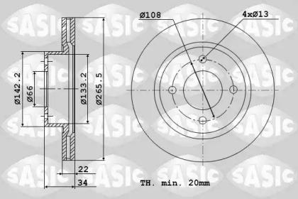 2464W14J SASIC Тормозной диск