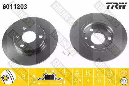 6011203 GIRLING Тормозной диск