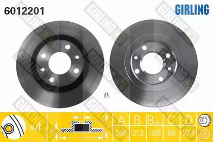 6012201 GIRLING Тормозной диск