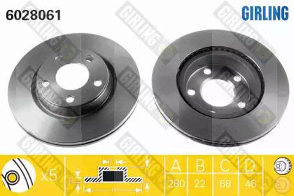 6028061 GIRLING Тормозной диск