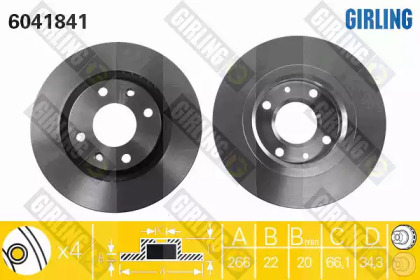 6041841 GIRLING Тормозной диск