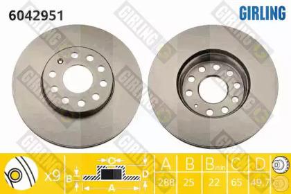 6042951 GIRLING Тормозной диск