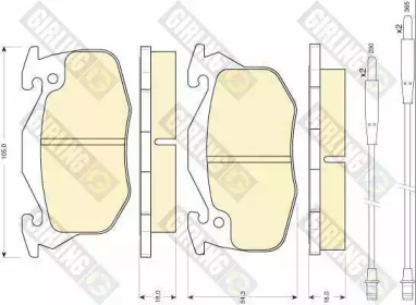 6110333 GIRLING Комплект тормозных колодок, дисковый тормоз