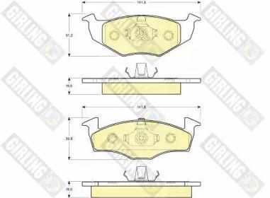 6112182 GIRLING Комплект тормозных колодок, дисковый тормоз