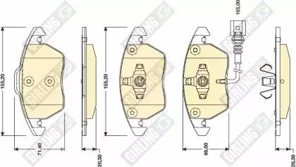 6118072 GIRLING Комплект тормозных колодок, дисковый тормоз