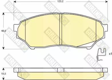 6132709 GIRLING Комплект тормозных колодок, дисковый тормоз