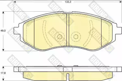 6133309 GIRLING Комплект тормозных колодок, дисковый тормоз