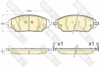 6135796 GIRLING Комплект тормозных колодок, дисковый тормоз