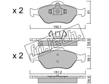 Колодки тормозные дисковые передние Ford FIESTA/Fusion 00-02 FRI.TECH 3250 для авто  с доставкой