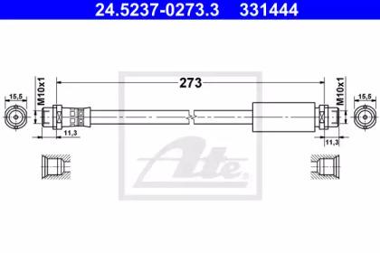 Автозапчасть/Шланг тормозной передний 270mm ATE 24523702733 для авто  с доставкой