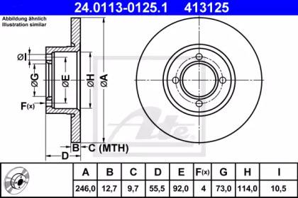 24011301251 ATE Тормозной диск