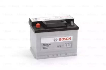 Аккумулятор   56Ah-12v BOSCH (S3006) (242x175x190),L,EN480                                           BOSCH 0092S30060
