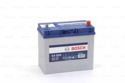 Аккумулятор   45Ah-12v BOSCH (S4020) (238x129x227),R,EN330,Азия тонк.клеммы                          BOSCH 0092S40200