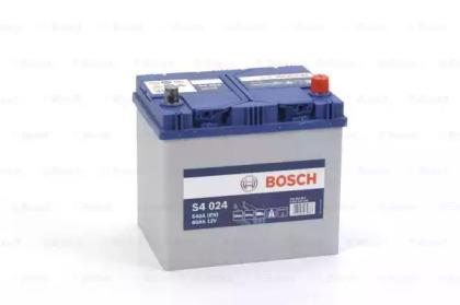 Аккумулятор   60Ah-12v BOSCH (S4024) (232x173x225),R,EN540                                           BOSCH 0092S40240