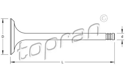 100565 TOPRAN Выпускной клапан