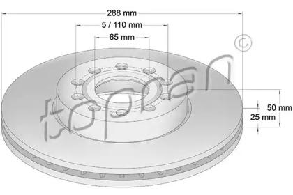 110075 TOPRAN Тормозной диск