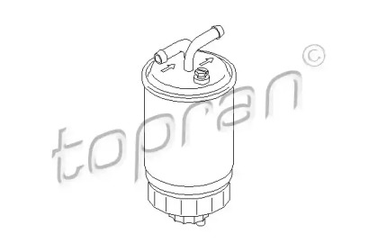 102731 TOPRAN Топливный фильтр