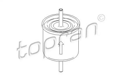 300051 TOPRAN Топливный фильтр