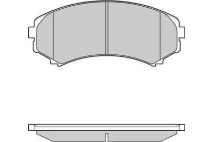 121001 E.T.F. Комплект тормозных колодок, дисковый тормоз