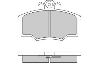 120143 E.T.F. Колодки гальмівні Audi 80 -86 /Coupe -89 15.0 mm