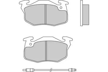 120269 E.T.F. Комплект тормозных колодок, дисковый тормоз