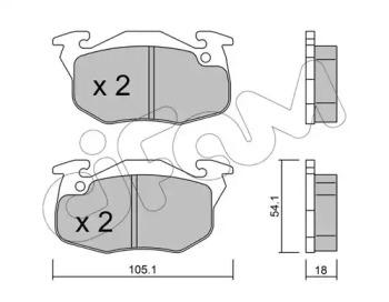 8220375 CIFAM Комплект тормозных колодок, дисковый тормоз