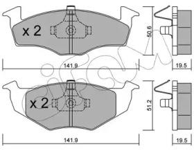 8222061 CIFAM Комплект тормозных колодок, дисковый тормоз
