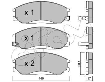 8223640 CIFAM Комплект тормозных колодок, дисковый тормоз