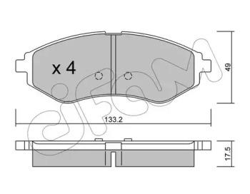 8225080 CIFAM Комплект тормозных колодок, дисковый тормоз