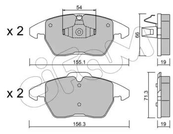 8225481 CIFAM Комплект тормозных колодок, дисковый тормоз
