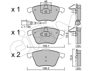 8225494 CIFAM Комплект тормозных колодок, дисковый тормоз