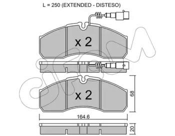 8225787 CIFAM Комплект тормозных колодок, дисковый тормоз
