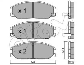 8226320 CIFAM Комплект тормозных колодок, дисковый тормоз