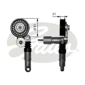 T38306 GATES Натяжний механізм паска привідного (механ.) Audi A4,A6 Skoda Superb VW Golf IV 1.9Tdi 01.98-