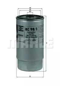 KC981 KNECHT Фільтр паливний (h163mm) Bmw 318/525/530/725/730 Diesel