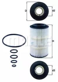 OX3457D KNECHT Масляный фильтр