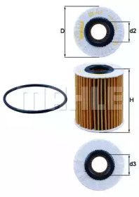 OX413D2 KNECHT Масляный фильтр