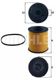 KX70D KNECHT Топливный фильтр