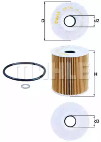 OX156D KNECHT Фільтр масляний BMW 3(E46)/5(E39)/7(E38)/X5(E53) 3.0D 1999-