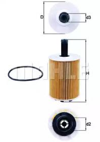 OX188D KNECHT Фiльтр масляний VW Golf 2.3VR6/2.8V6, Lupo, Polo 1.2/1.4Tdi Skoda 1.9Sdi 99-