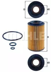 OX1537D1 KNECHT Масляный фильтр-1
