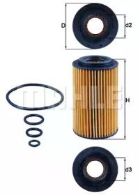 OX1537D KNECHT Масляный фильтр