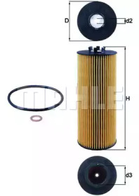 OX164D KNECHT Масляный фильтр