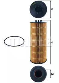 OX168D KNECHT Масляный фильтр