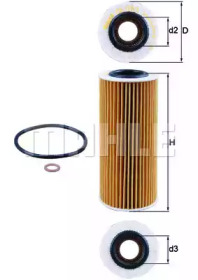 OX1773D KNECHT Масляный фильтр