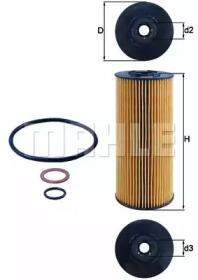 OX137D2 KNECHT Масляный фильтр