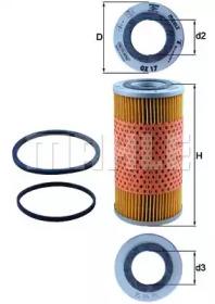 OX17D KNECHT Масляный фильтр; Гидрофильтр, автоматическая коробка передач