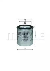 KC22 KNECHT Фільтр паливний DB 200D,220D,240D - W123,MB
