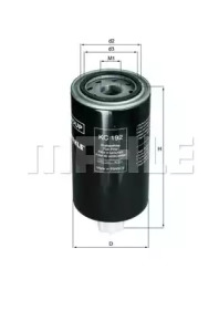 KC192 KNECHT Фильтр топл. DAF, CATERPILLAR (TRUCK) (пр-во Knecht-Mahle)
